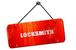 55906847 - locksmith, 3d rendering, red grunge vintage sign